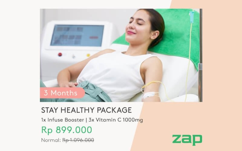 3 Months Package Stay Healthy (1x Infuse Booster + 3x Vitamin C 1000mg)