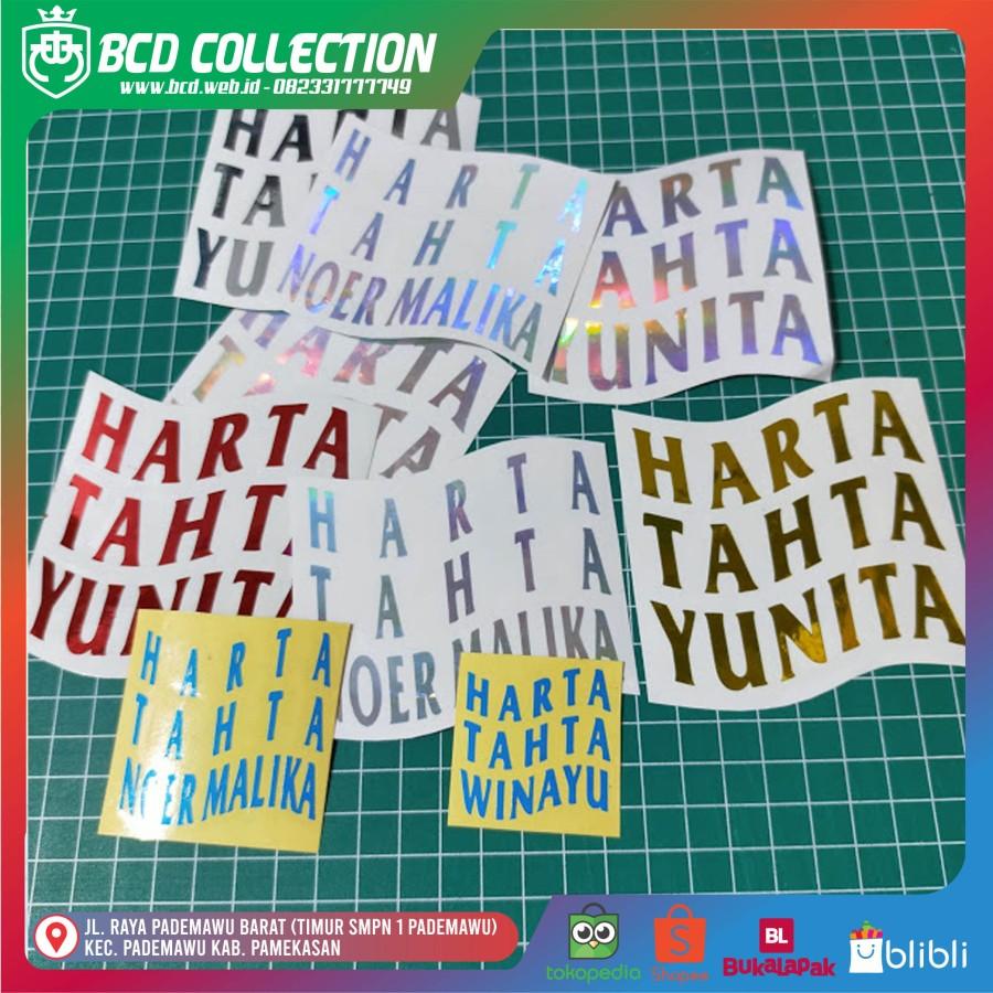 Stiker Cutting Harta Tahta Nama (Custom)