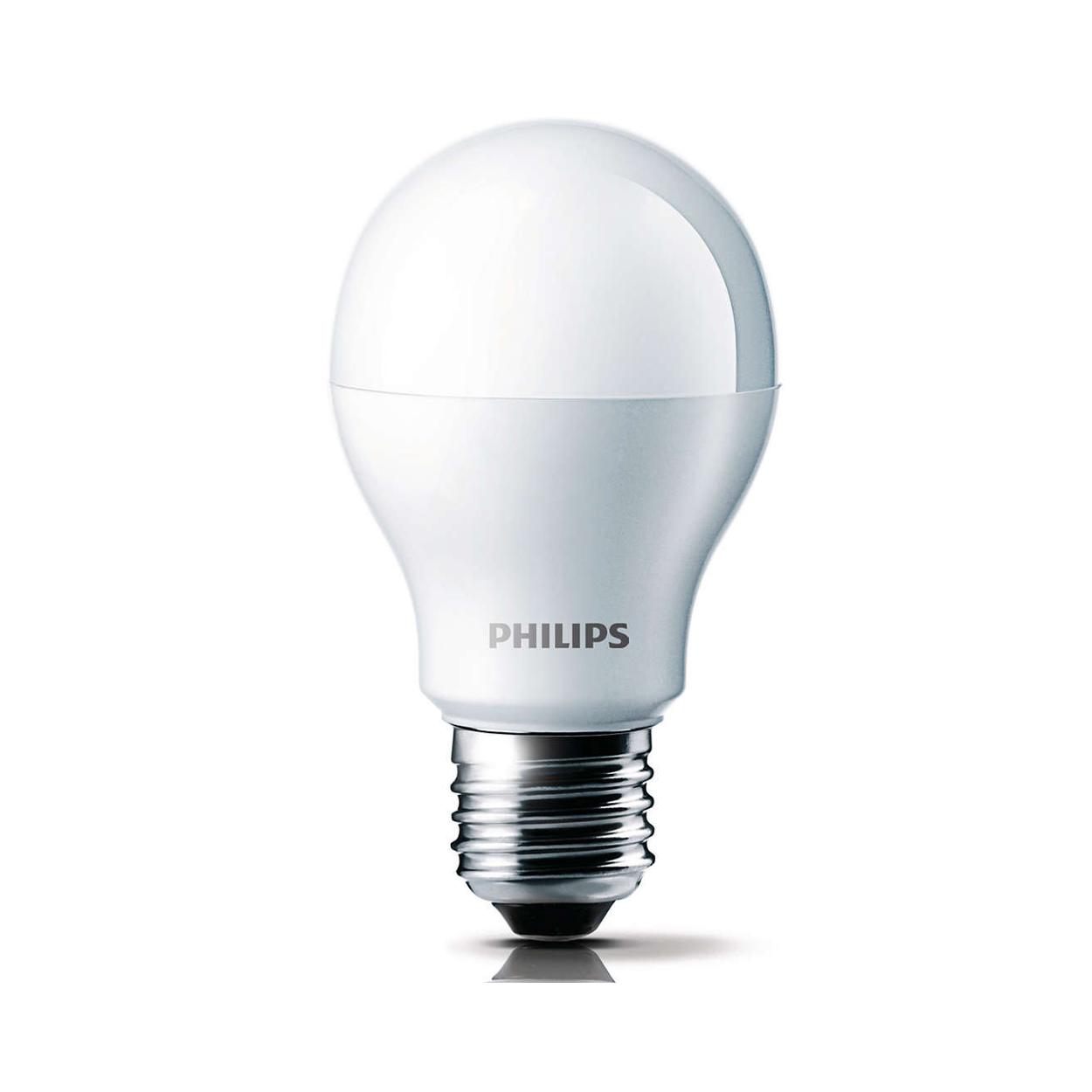 jual bohlam led philips lamp 7 watt hemat energi lifetime sampai 15 tahun cahaya terang. Black Bedroom Furniture Sets. Home Design Ideas