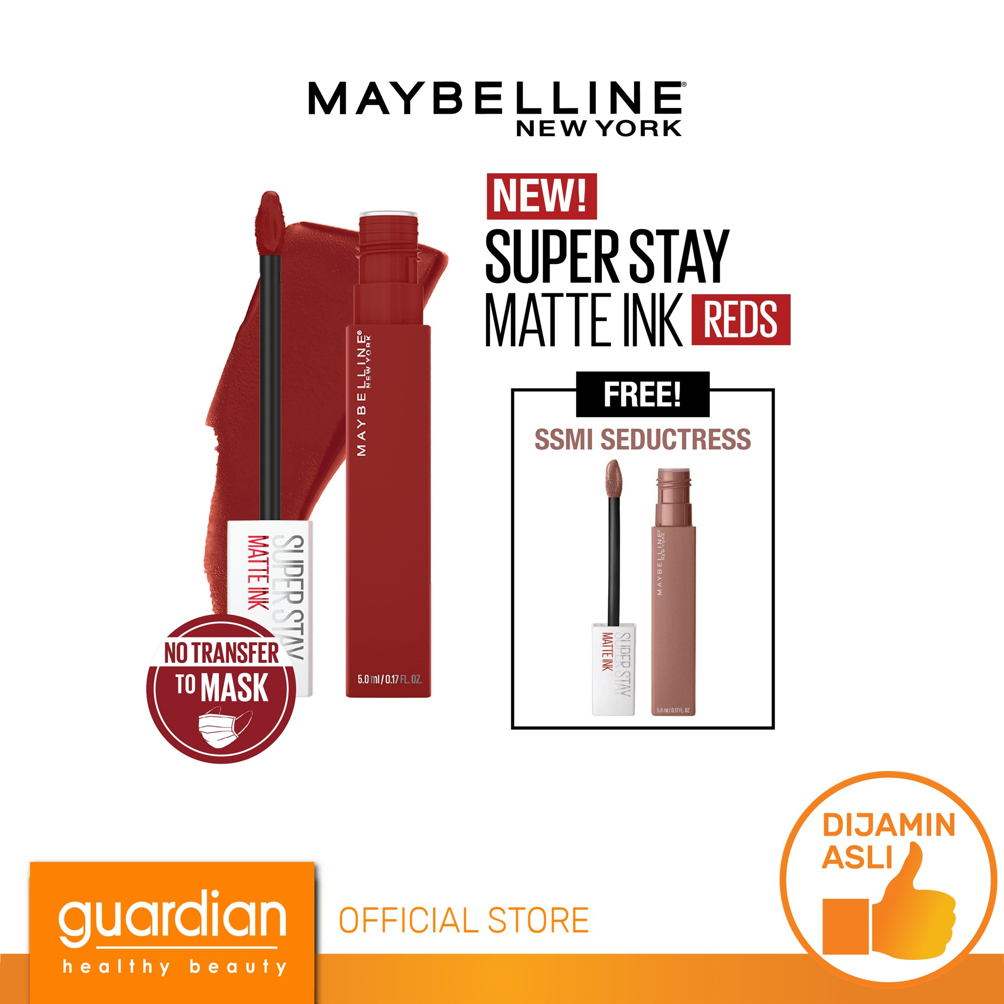 Maybelline SuperStay Matte Ink Reds 295 Dauntless thumbnail