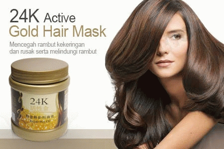 Masker Rambut 24k Hair Mask Gold Rahasia Rambut Indah new Source · Jual Masker Rambut 24k 24k Active Gold Repair Hot Oil 500ml Yurizumi Collection s ...