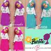 Jual Setelan Baju Anak Perempuan Muslimah Barbie Umur 3