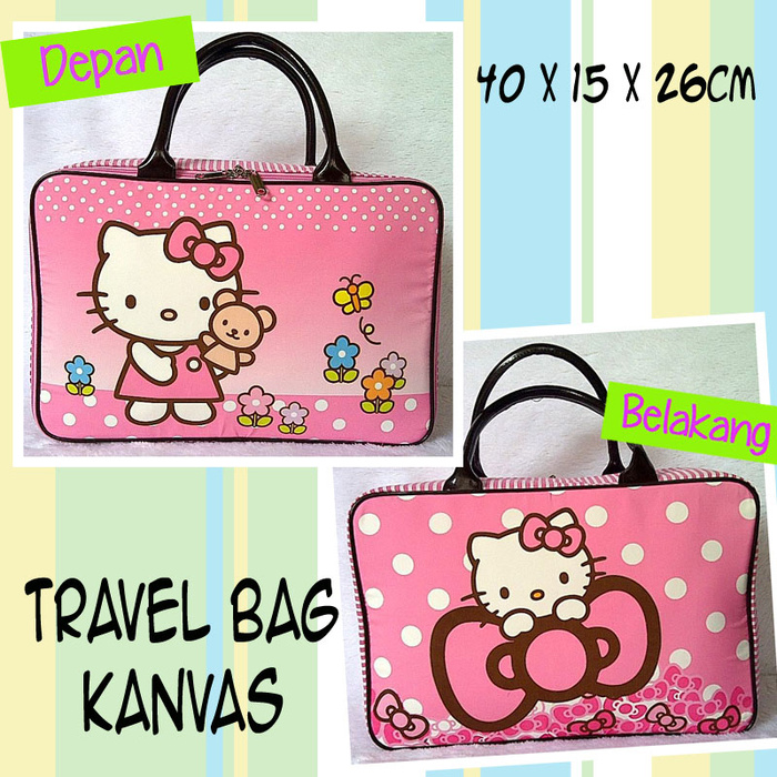 Tas Travel Kanvas Hello Kitty Pita