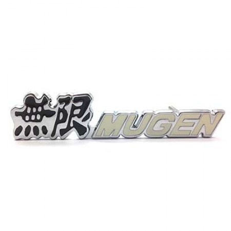 Emblem Gril Mugen Power Putih Jazz Brio Civic Stream Mobilio CRV Freed