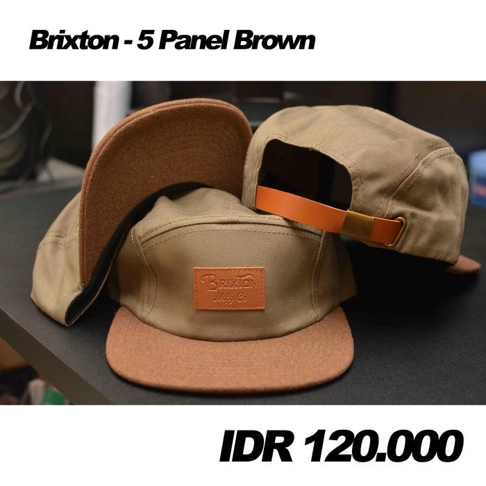 harga Five Panel Brixton - Brown Tokopedia.com