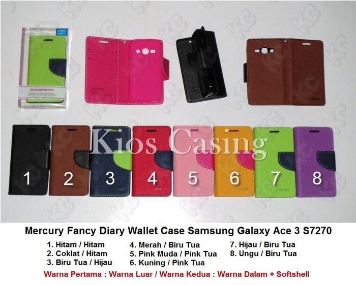 Mercury Fancy Diary Wallet Case Samsung Galaxy Ace 3 S7270