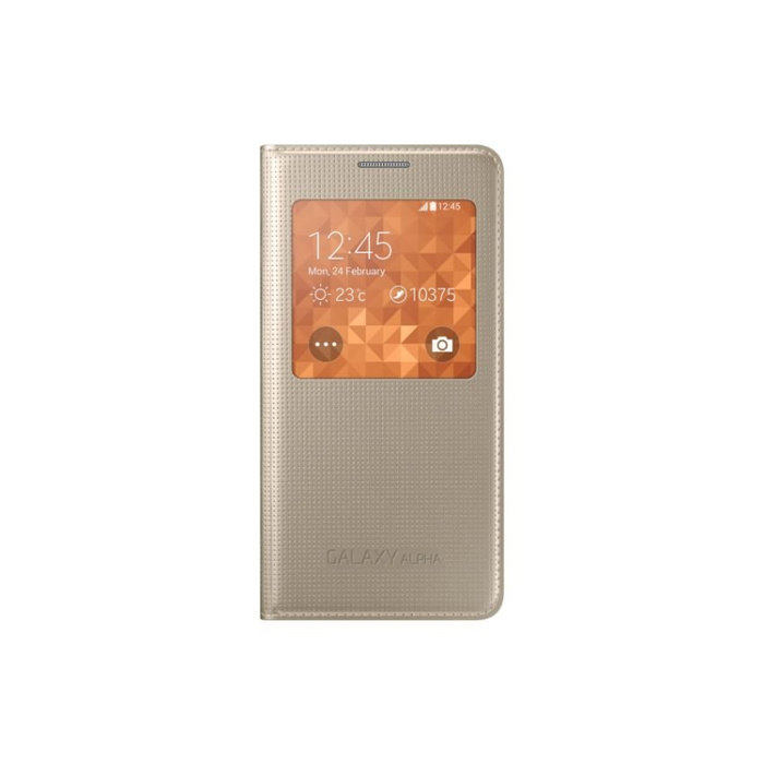 SAMSUNG Galaxy Alpha Case S-View - Gold