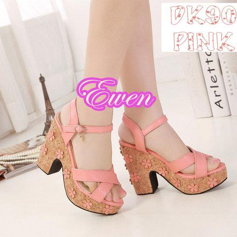 Sepatu Sandal Wanita / Cewek Wedges High Heel / Hak Tinggi DK90