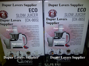 Oxone Ox 865 Eco Slow Juicer : Jual Oxone Eco Slow Juicer (ox-865) - Dapur Lovers Supplier Tokopedia