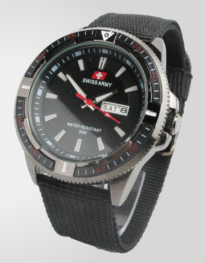 Swiss Army Canvas B809 (Hitam)