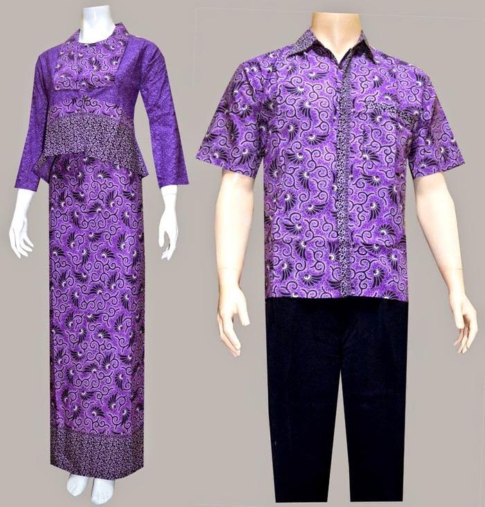 Jual Boslrc Ungu Gamis Couple Batik Blazer Butik Online