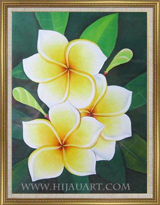 Gambar Lukisan Bunga Kamboja Yang Mudah Digambar Koleksi Gambar Bunga