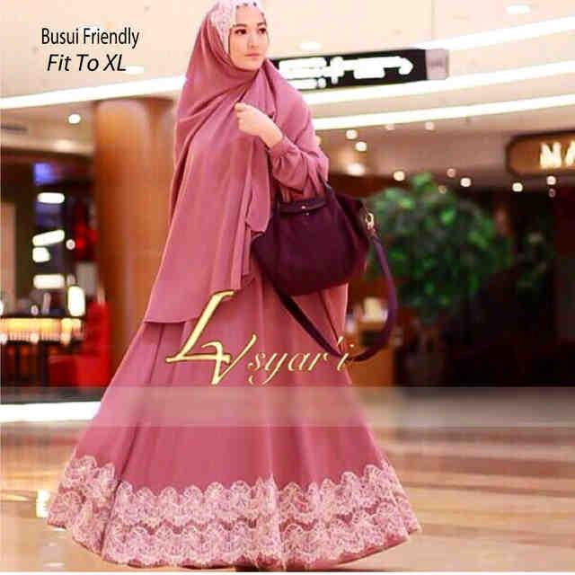 Jual Hijab Lyra Virna Bergo Maxy Bergo Renda Busui