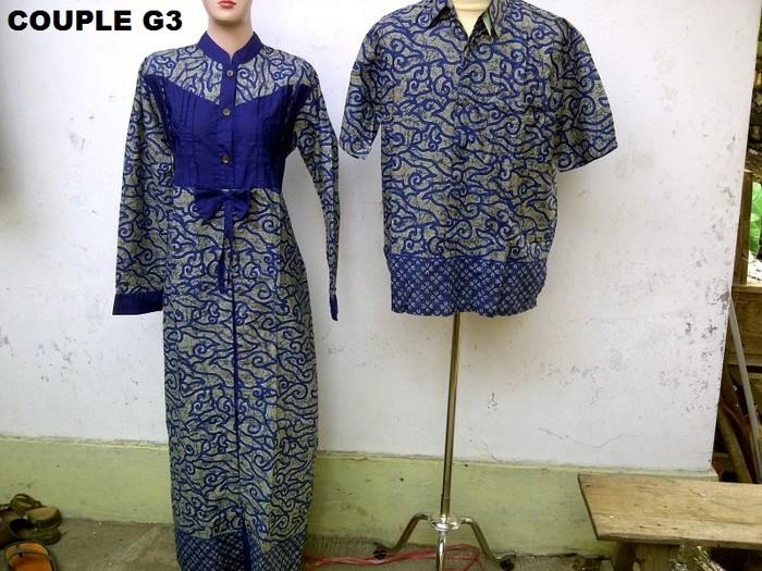 Jual Baju Batik Gamis Couple G3 Pasangan Sarimbit Bos