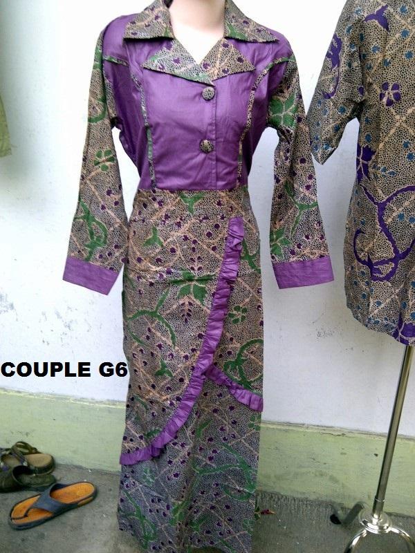 Jual Baju Batik Gamis Couple G6 Pasangan Sarimbit Bos