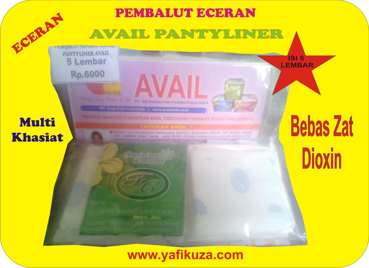 Jual Pembalut Herbal Avail Pantyliner Eceran 5 Lembar 100 Original Pantiliner Yafikuza Shop Tokopedia