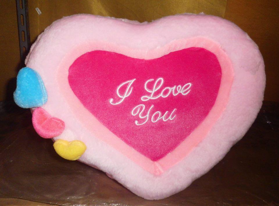 "Jual Bantal bingkai bordiran "" i love you "" CT 03 - Chimot_Toy's 