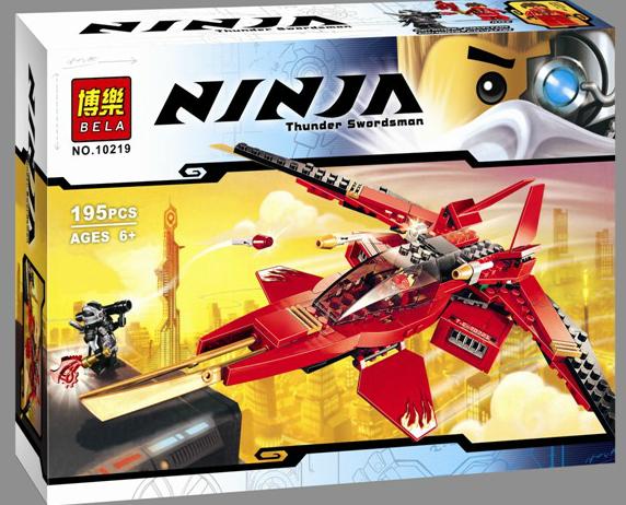jual lego bela 2014 ninjago rebooted kai fighter 10219