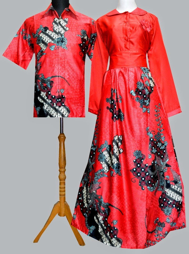 Jual Bosu52 Gamis Couple Batik Butik Online Shop Tokopedia
