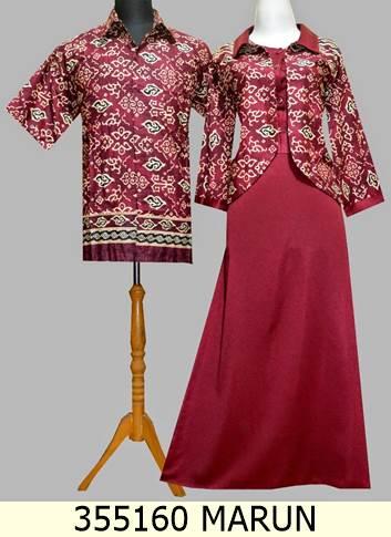 Jual 355160 Gamis Blazer Batik Couple Baju Pesta Batik