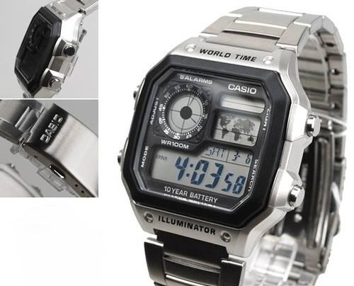 Jual Jam Tangan CASIO AE-1200WHD-1AVDF Original Stainless ... ce575350e1