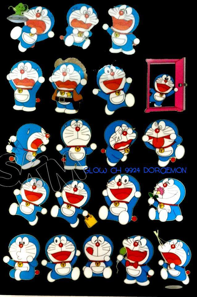 Jual Doraemon Character Glow In The Dark Wall Sticker Stiker
