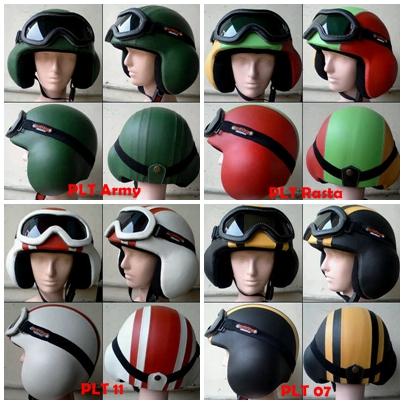 Helm Vespa Retro Classic Helm Skuter Mania CB kode PLT