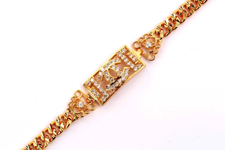Jual Gelang Chanel Perhiasan Lapis Emas FJ119