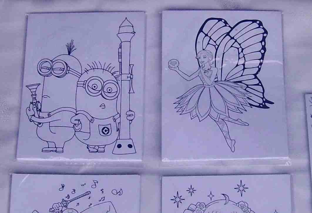 Jual Gambar Mewarnai Anak Model Kartun Lucu T Paper Tokopedia