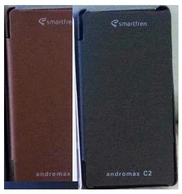 Jual Flip Cover Case Smartfren AndroMax C2 Magnet Free Warna Coklat