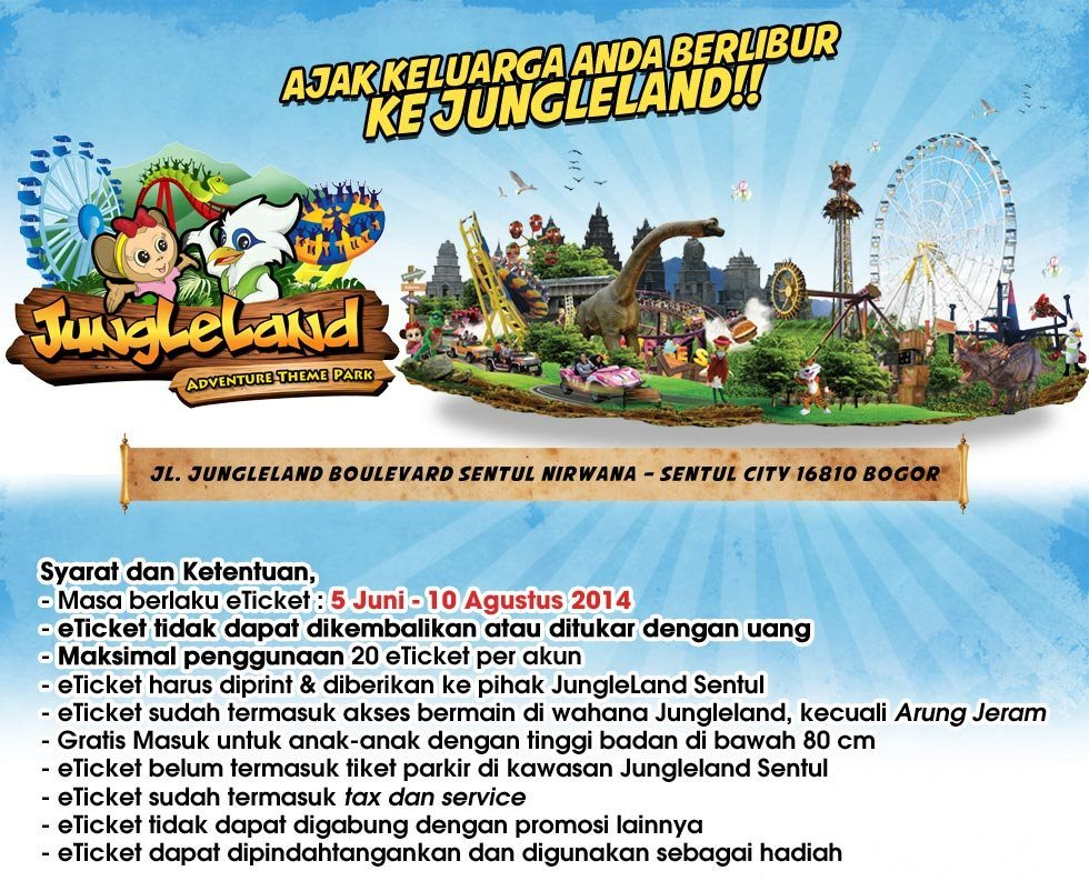 Jual Etiket Jungleland Sentul City Sno Shop Tokopedia