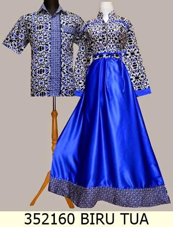 Jual 352160 Dress Batik Couple Muslim Trendy Baju Batik