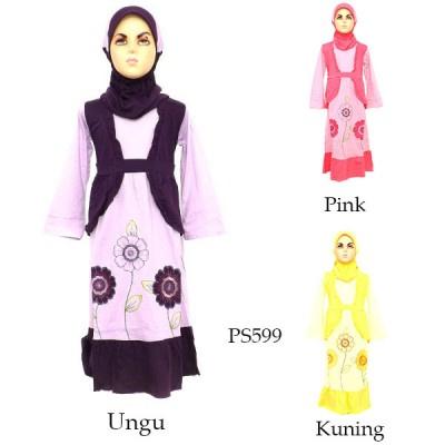 Jual Baju Gamis Anak Pinson 4 6 Tahun Muslimah Grosiran