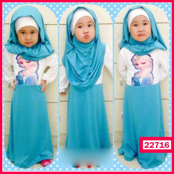Jual Baju Anak Phasmina Princess Elsa Hijab Grosir Kaos
