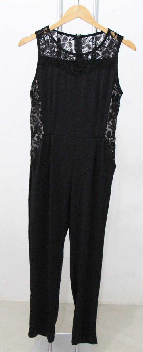 Jual Baju Impor Sexy Black Lace Jumpsuit