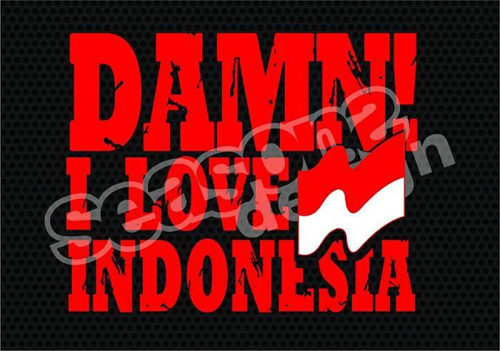 Sticker damn i love indonesia