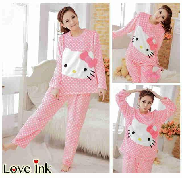 Baju Gamis Anak Hello Kitty Gamis Murni