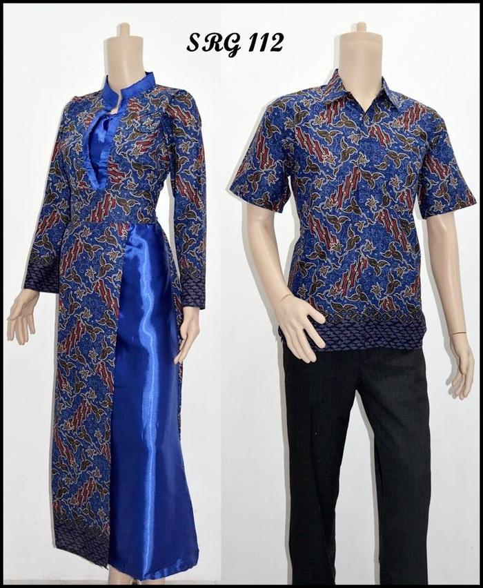 Jual Sarimbit Gamis Batik Srg112 Rais Batik Ii Tokopedia