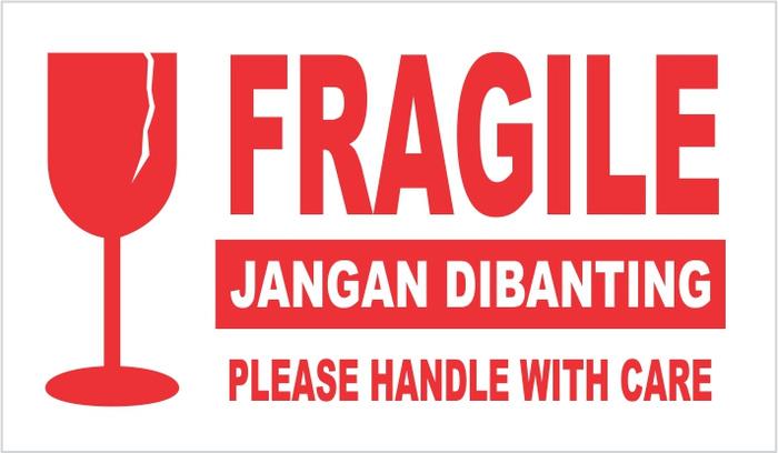 jual d   sticker fragile jangan dibanting please