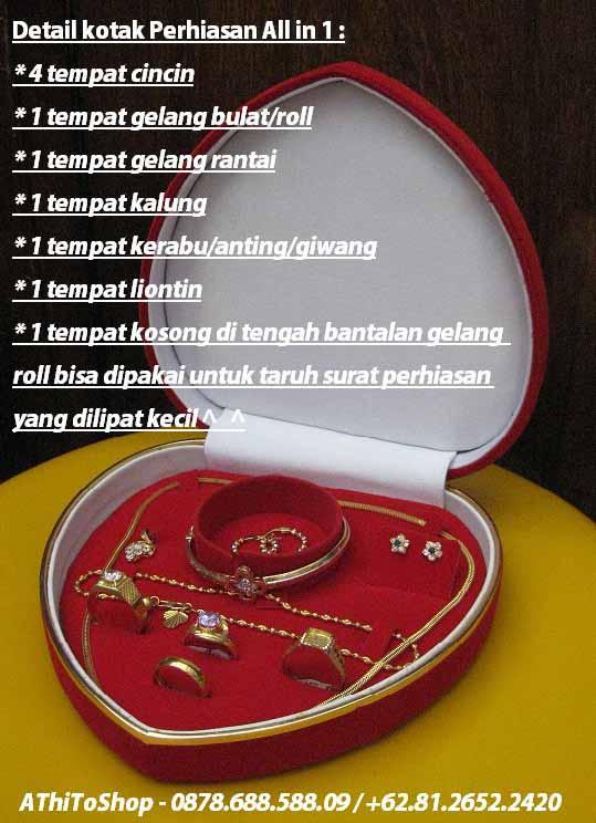 Jual Kotak Love JUMBO Untuk Menyimpan4 Perhiasan Emas