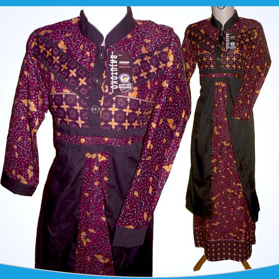 Jual Baju Batik Gamis Model Terbaru Batik Gamis Busana Muslim Warna