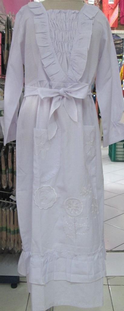 Jual Baju Muslim Anak Putri Model Gamis Khusus Putih Utk