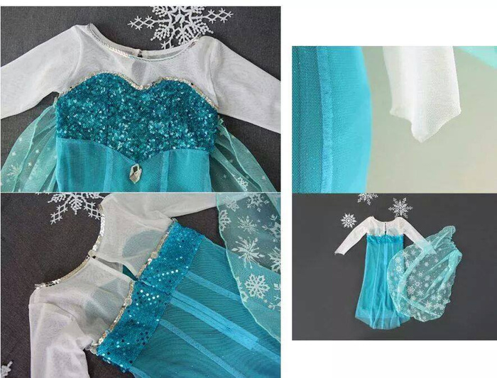 Jual BAJU ANAK - ELSA FROZEN DRESS IDR Rp. 105.000 - tara baby store