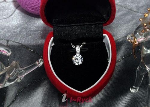 Jual kalung perak dilapis emas putih - wg 021 100% original fairy box