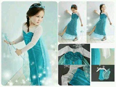 Jual Gaun Anak Frozen Queen Elsa Baju Terusan Dress