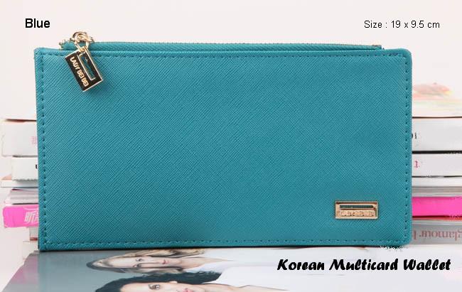 Korean Multicard Wallet BLUE (Dual side, sisi depan untuk ...