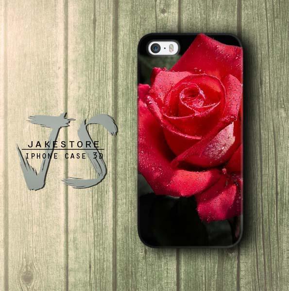 Jual Red Rose Flower Wallpaper IPhone Case Bunga Mawar
