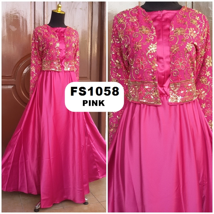 Jual Baju Gamis Maxi Dress Sari India Mode Fatin FS1058 - Fika Shop