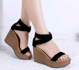 Sepatu / Sandal Wedges High Heels / Hak Tinggi Wanita / Cewek BJ 91