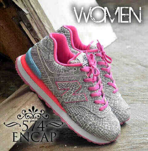 Jual New Balance 574 Encap Women Grey Pink 3 (NB 23) - Chops ... fdf145786f